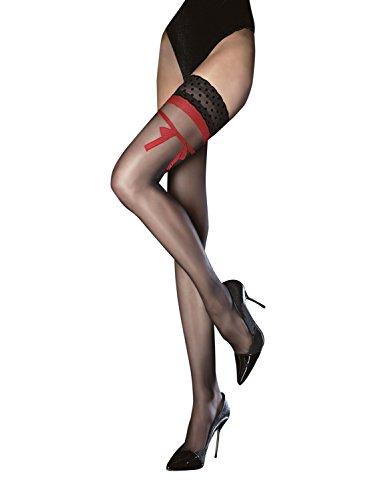 fiore-yasmin-obsession-bas-autofixants-decoration-rouge-t3-femme-20-den-noir-medium