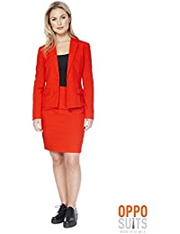 Amazon.co.uk: Red - Skirt Suits / Suits & Blazers: Clothing
