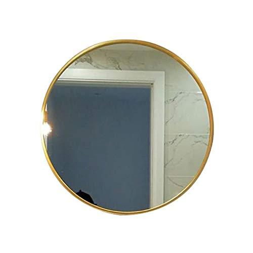 LXYPLM Espejo Pared Montaje en Pared Baño Colgante Espejo de Maquillaje Hierro Forjado Espejo Redondo...