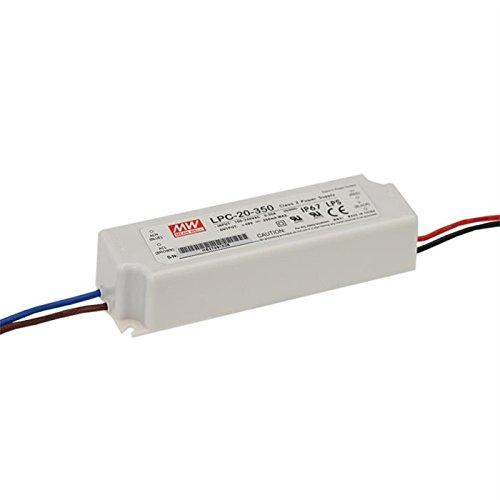 LED Alimentazione 17W 9-48V 350mA ; MeanWell, LPC-20-350 ; corrente constant