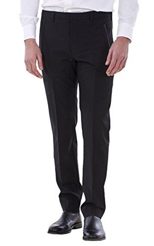Ex Famous Store Men's Smart Slim Fit Trousers Work Formal Wool Office Pants
