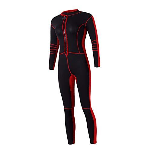 P Prettyia Damen Lang Neoprenanzug Schwimmanzug Surfanzug UV-Schutz Overall Tauchanzug Wassersport Anzug 3mm Tauchen Schwimmen Badebekleidung - L