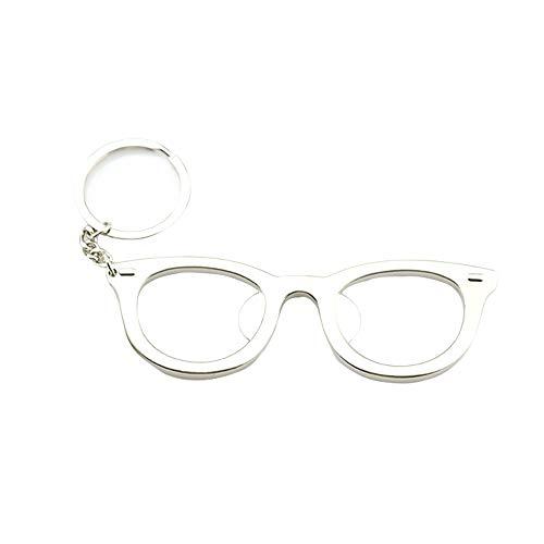 Schlüsselanhänger Creative Metal Brillengestell Flaschenöffner Metall Multifunktional Anhänger Schlüsselanhänger (Silber)