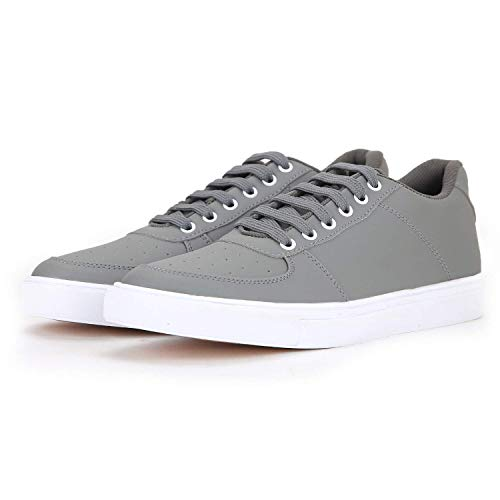 Red Rose Casual Sneakers Shoe's for Men's. (8, Gray)