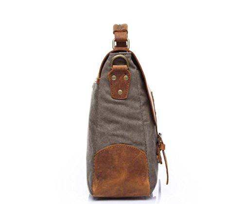 Great Strange Vintage Canvas Tasche / Mann Schultertasche / Umhängetasche, Handtasche, Aktentasche, Einkaufen / Arbeit / Reisen , coral blue army green