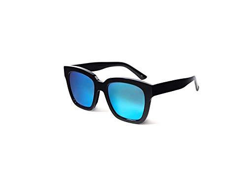 ZTMN Polarisierte Sonnenbrille männer Fahren uv-Schutz Dame Retro Trend straße schießen reisebrille (Farbe: schwarz Rahmen eisblau Rahmen)