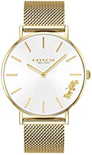 Coach WOMEN'S SILVER WHITE DIAL IONIC THIN GOLD PLATED 1 STEEL WATCH - 1450