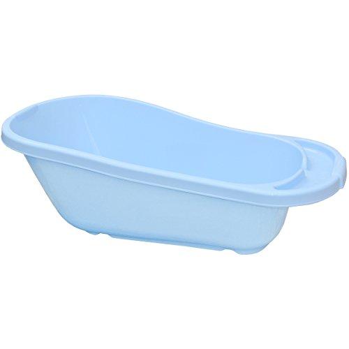Promobo - Baignoire pour Toilettes Bébé avec Siège Appuie Tête Sécurite Bleu