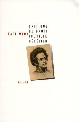 Critique du droit politique hégélien