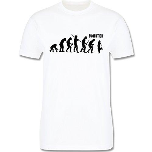 Evolution - Hip Hop Evolution - Herren Premium T-Shirt Weiß