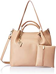 Venosa Amazon Women's Shoulder with Pouch and Sling Bag (Beige) (Set o