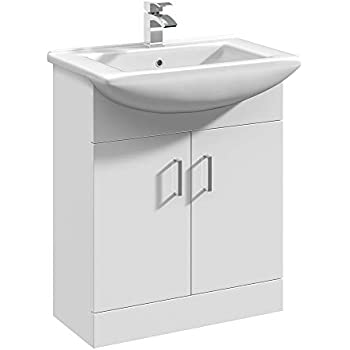 Veebath Vuw1050 Linx Bathroom Vanity Basin Sink Cabinet Unit Soft Close Door Hinges Storage Furniture 1050mm White Kitchen Bath Fixtures Diy Tools