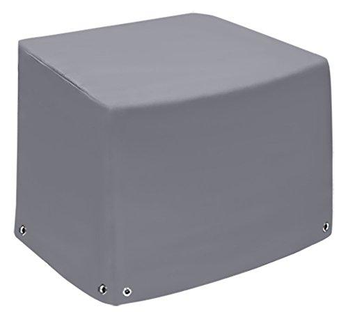 Fauteuil lounge | Capot de protection XL avec 2 hauteurs | Coque | Bâche de protection Bâche | Couverture en bâche de camion (650gr/M²) | Tissu en polyester PVC | hochfertige et langlebige météo Capot de protection | 75x78 x65x110 Gris aluminium