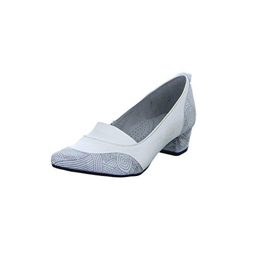 Maciejka Damen 02787 Pumps Leder Fußbett Creme Weiß