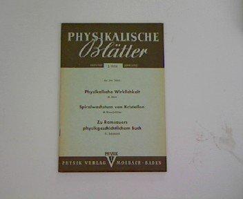 Organische Substanzen als Modelle zur Demonstration des Spiralwachstums, in: Physikalische Blätter 2/1954