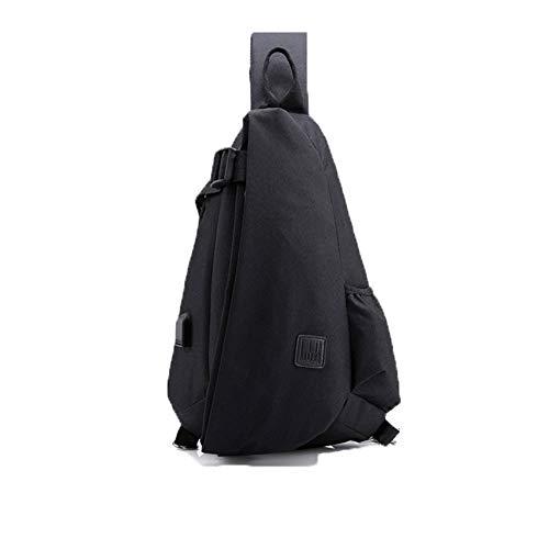 QWESHTU Verschleißfeste Umhängetaschen Diebstahlsicher Für Damen Herren, School College Rucksack Mit USB-Ladeanschluss Mode,Black