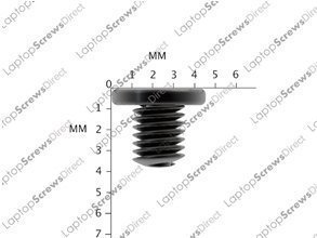 PACK OF 12 M2.5x3 NEW Black Zinc Wafer Head Laptop Machine Screw Philips Head Supplied By LaptopScrewsDirect