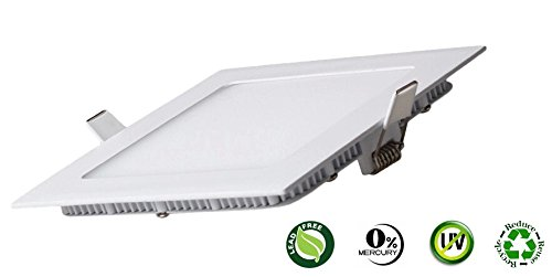 GPS 12W LED Panel Light (Cool White, Square) - False Ceiling Down Light (Pack of 1, Slim, 230V AC, 12 Watts, Alumininum, POP Light, 2 Years Warranty)  available at amazon for Rs.299