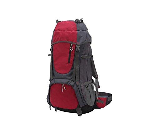 Yy.f 60L Taktischer Militärischer Rucksack Outdoor-Sporttasche Angriff Rucksack Taschen Jagd Camping Wandern Outdoor-Ausrüstung Rucksäcke. Multicolor Red