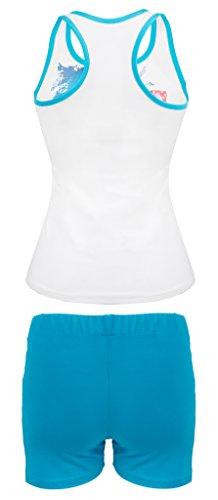DKaren ADMINA53 Damen Weich Nachtwäsche Wäsche-Set aus Viscose (S-XXL) Turquoise
