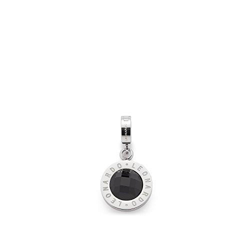 JEWELS BY LEONARDO Damen Anhänger Matrix mini Darlin\'s Edelstahl/silberfarben Glas schwarz Darlin\'s Clip klein rund Kreis 016419