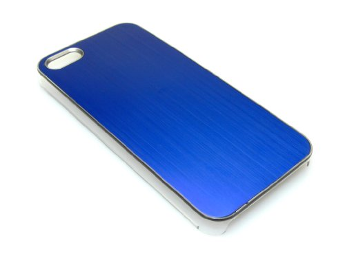 Sandberg Cover iPhone 5/5S Aluminum Silver - mobile phone cases Blu