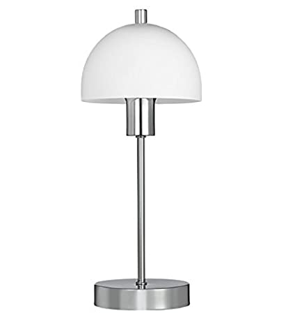 Searchlight 5165CC Chrome Table Lamp With White Frosted Glass Opal Shade