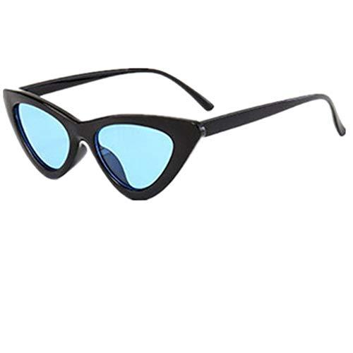 Sonnenbrille Polarisiert für Damen/Dorical Cateye Bonbonfarben kleiner Rahmen Gläser Sonnenbrille mit UV-400 Schutz Vintage Brille Super Coole Frauen Sunglasses Travel Eyewear(A)