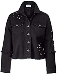 sale retailer 485ba afd93 Suchergebnis auf Amazon.de für: jeansjacke mit nieten damen ...