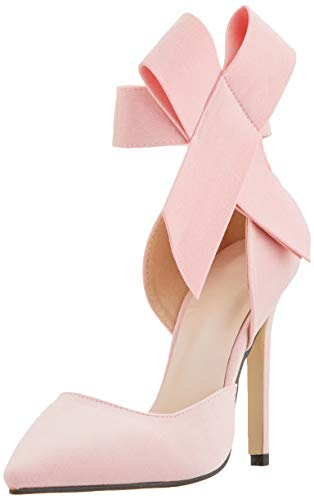 ie High Heel Pumps Party Dress Court Schuhe(Pink-37) ()
