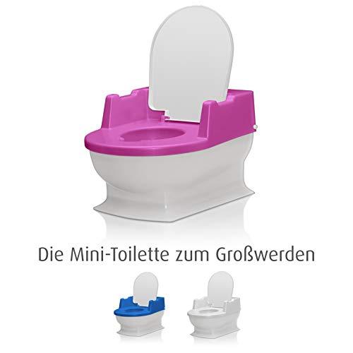 SitzFritz Kinder-Toilette, Töpfchen und Toilettentrainer, perlweiß
