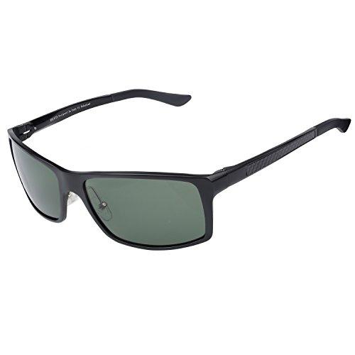 DUCO Herren Sportbrille Polarisierte Sonnenbrille Fahrerbrille 8202 (Grün)