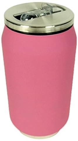Yoko Design Dose, Isolierbehälter, Edelstahl, 13cm Rose Rubber Soft