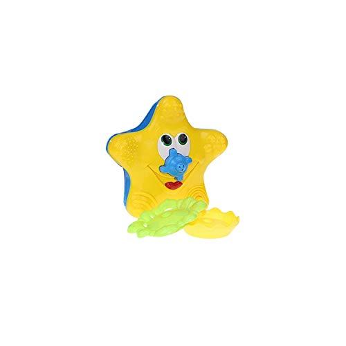 Baby-Bad-Spielzeug Seestern Badespielzeug Elektronische Float Drehen Spray Wasserspielzeug Sprinkler Badewanne Schwimmbecken Wasser spielt Geschenk für Kinder Kleinkinder 1PC (Elektronisches Für Spielzeug Kleinkinder)