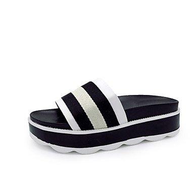 zhENfu donna pantofole & amp; flip-flops sandali liane tessuto estate outdoor Abbigliamento sportivo a piedi Liane Nero Blu Verde 1A-1 3/4in Black