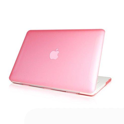 Generic Matt Tasche Case für Apple New macbook white 13 13.3 Zoll Model Schutzhülle Etui (ohne Apple Ausschnitt logo) Model A1342-Rosa -