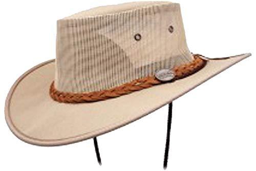 Barmah Canvas Summer Hut Drover Red Rock Series Lightweight Summer Hat (L (58-59cm)) -