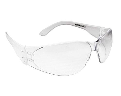 REIS Checklite Arbeitsbrille UV-Schutz Unisex PC Klar Federleicht Arbeitsschutzbrille 22g