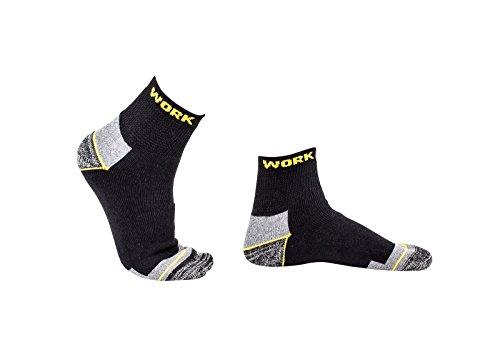 Hellerman | 9 Paar Sneaker Arbeitssocken / Worker Socken aus Baumwolle, atmungsaktive Funktionssocken mit Klimaausgleich für Damen und Herren (43-46 9 Paar)