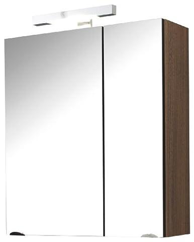 Laonda 2 Door Mirror Cabinet Finish: Walnut Effect