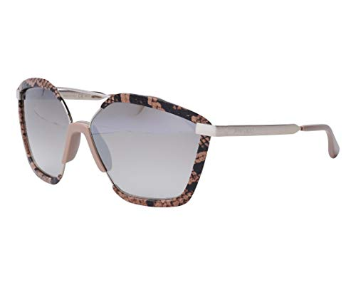 Jimmy Choo Sonnenbrillen (LEON-S 35JNQ) silber - bedruckt braun - braunfarben verlaufend mit silber verspiegelt effekt