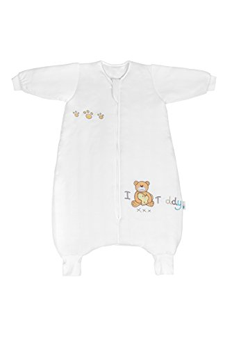 75c72f80e2 ... Baby Winter Sleeping Bag with Feet approx. 3.5 Tog - I Love Teddy -  18-24 months. LETTAS Baby Boys and Girls Quilted Cotton Stripe Detachable  Sleeve Zip ...