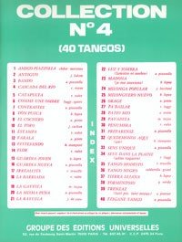 Editorial universales Collection N ° 4–40Tangos