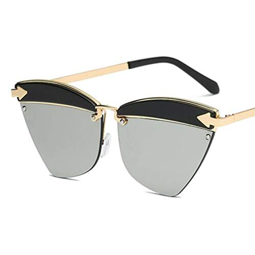 AAMOUSE Sonnenbrillen cat Eye Sonnenbrille schwarz Metall verspiegelt Herz Brille schildkröte Rahmen goldton Sonnenbrille männer Mode Eyewear