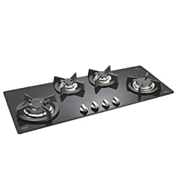 Glen Built in Hob 1094 Triple Ring 4 Burner Glass Hob