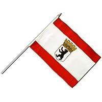 Flaggenfritze® Stockflagge Deutschland Berlin mit Krone - 30 x 45 cm