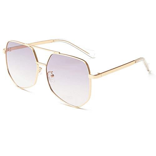 Stilvolle Sonnenbrille für Frauen Aviator Polarisierte Metall 100% UV Blocking Sonnenbrille Frauen Männer Retro Marke Sonnenbrille UV-Schutz Sonnenbrille ( Farbe : Braun , Größe : Casual size )