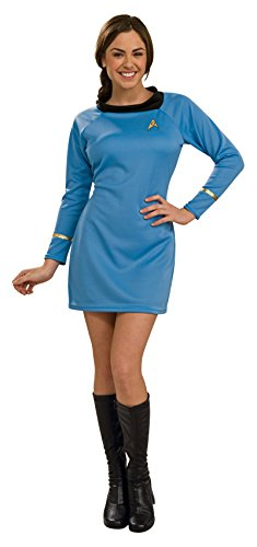 Rubie 's Costume Co Rubies Kostüm Co. Star Trek Classic Deluxe für Erwachsene Kleid Blau Gr. Medium, Blau - - Rubie S Kostüm Star Trek Co