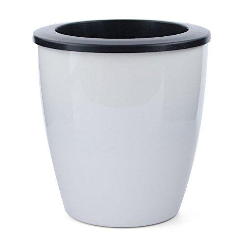 SNOWINSPRING 3 Pieces Pot de Fleur en resine Pot de Fleur d'arrosage Automatique Pot Blanc Pots de Fleurs en resine, Ouverture diametre 18 cm de Hauteur 20 cm, L