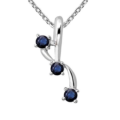 Orchid Jewelry Anhänger Saphir - Halskette, Charms Geburtsstein Ring,